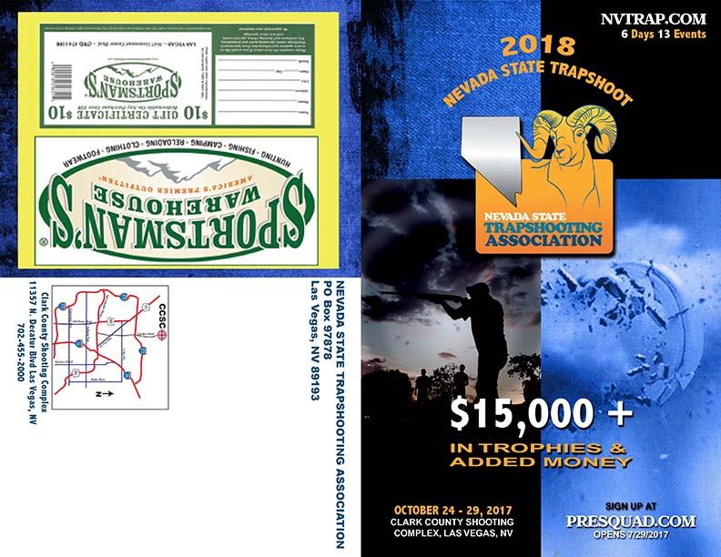 Nevada State Trapshooting Association 2018 Program Cover Las Vegas Web Design