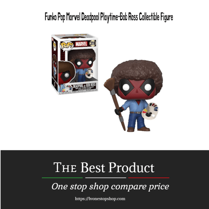 Funko Pop Marvel Deadpool Playtime-Bob Ross Collectible Figure