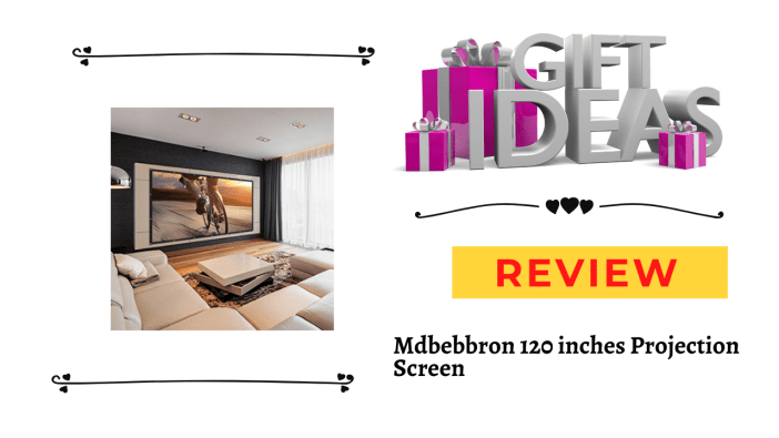 Mdbebbron 120 inches Projection Screen