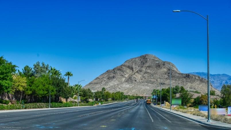 Lone Mountain, dead ahead