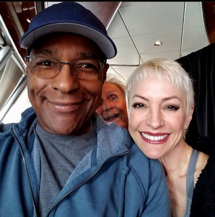 Michael Dorn with Nana Visitor