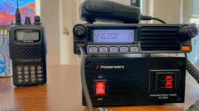 Radio showing local UHF repeater frequency