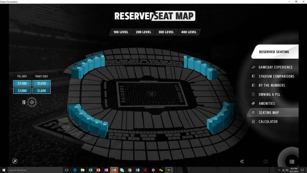 Raiders Fans In Las Vegas Seeking Reserved Seats Get Look At Seat License And Ticket Costs Lvsportsbiz