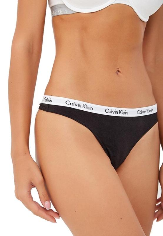 Calvin Klein tangá 3 Pack Thong čierne