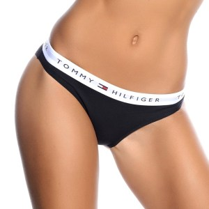 Tommy Hilfiger tanga Cotton Iconic Thong čierne