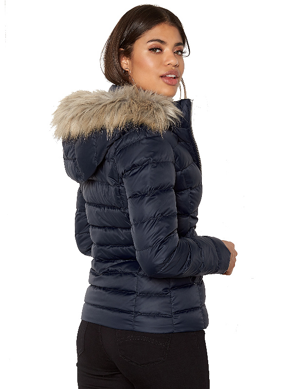 Tommy Hilfiger dámska bunda Basic Down Jacket modrá