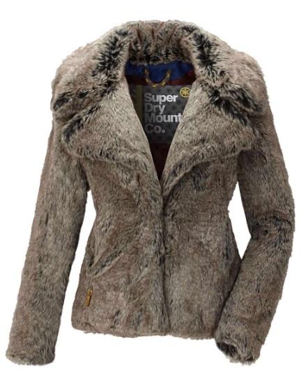 Superdry kožušinová dámska bunda