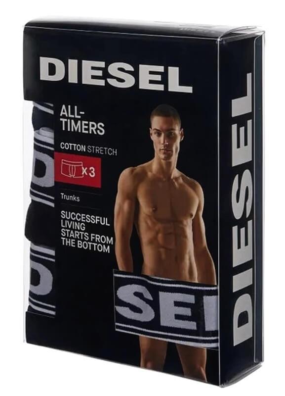 Boxerky Diesel 3pack čierne detail foto