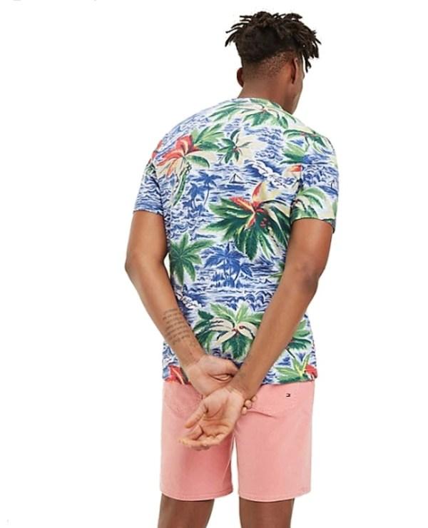 Tričko Tommy Hilfiger Palm All Over Print Tee 118.02