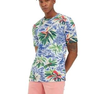 Tričko Tommy Hilfiger Palm All Over Print Tee 118
