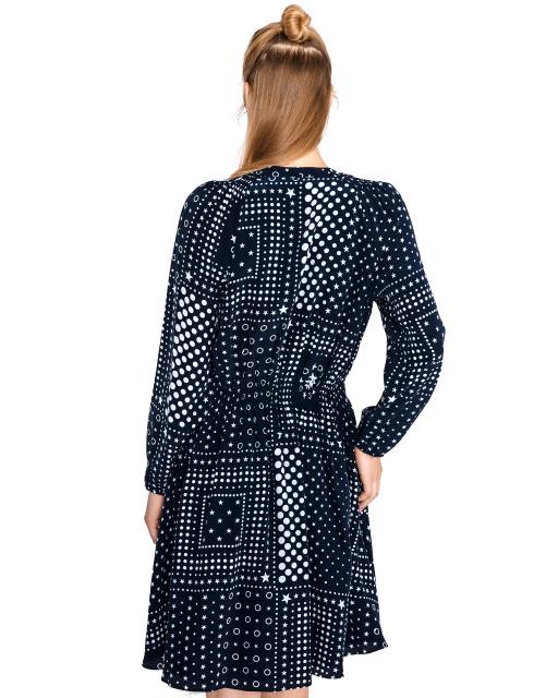 Hodvábne šaty Tommy Hilfiger Honor modré 6