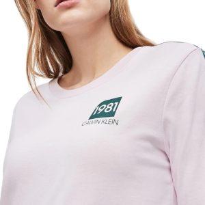 Dámske tričko Calvin Klein Night Shirt 1981 Bold Pink Sky 7JX