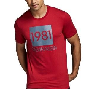 Calvin Klein tričo pánske SS Crew Neck 1981 červené 001