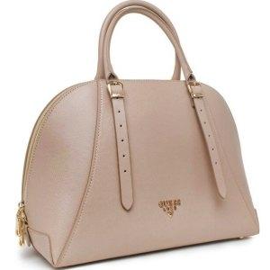 Dámska kožená kabelka Guess Luxe taupe