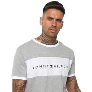Tommy Hilfiger tričko pánske Original CN Tee SS Logo Flag 004 šedé_0