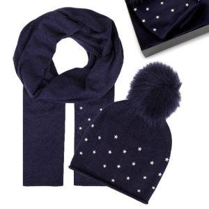 Set čiapka a šál Tommy Hilfiger Stars Scarf & Beanie Holiday Giftpack