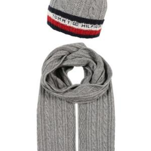 Set čiapka a šál Tommy Hilfiger Corporate Cable Scarf Beanie Giftack