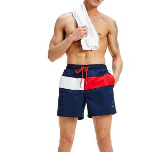 Tommy Hilfiger plavky Flag Panel Swim Shorts CUN modré_01a