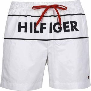 Tommy Hilfiger plavky pánske šortky kúpacie Logo Swim Shorts YCD biele