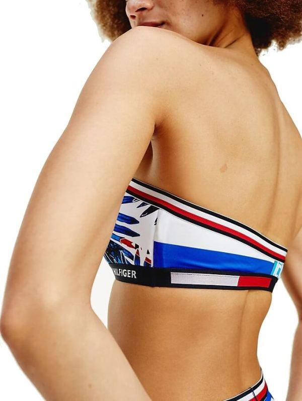 Tommy Hilfiger plavky dámske-podprsenka Multi Logo Bandeau Fixed 0K5_03