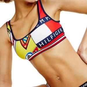 Tommy Hilfiger plavky dámske Contrast Print Bralette Top Bottoms 0LJ multi_01
