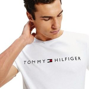 Tommy Hilfiger tričko pánske Crew Neck Logo T-Shirt YCD biele_01