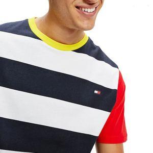 Tommy Hilfiger tričko pánske Drop Shoulder Tee CUN modré biele červené_01