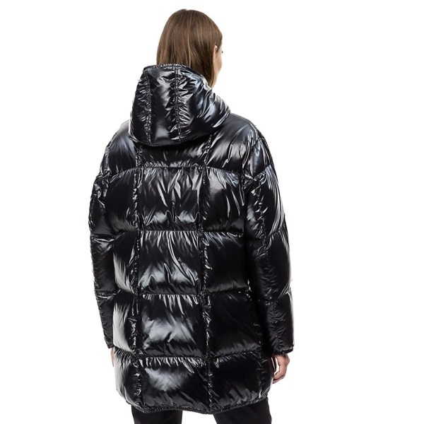 Calvin Klein kabát dámsky páperová bunda Puffer Down Coat čierny 02