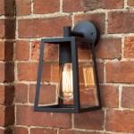 Calvi Outside Wall Light With Black Frame Lights Co Uk