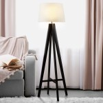Maura Fabric Floor Lamp With Wooden Base Lights Co Uk