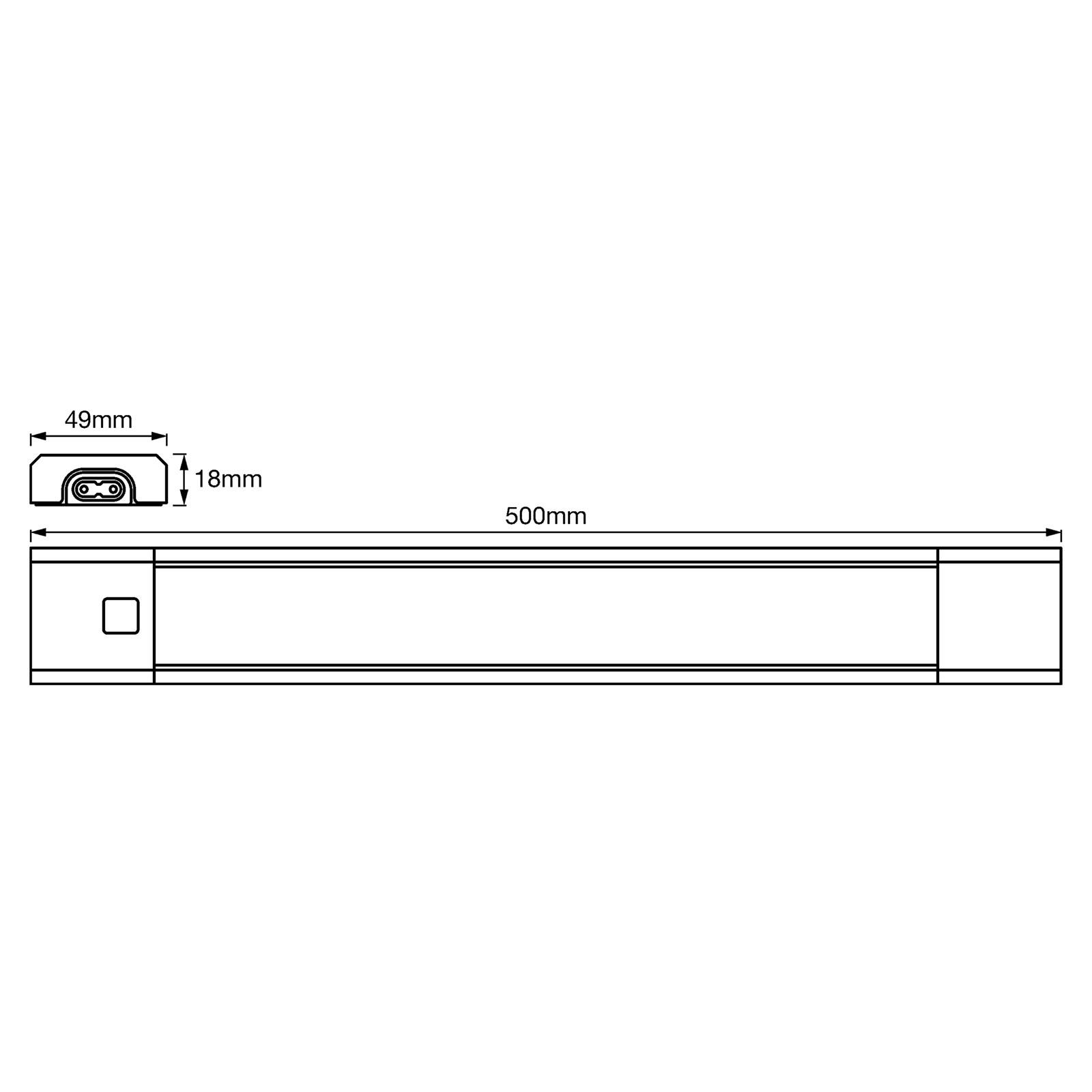 ledvance linear slim rgbw under cabinet light 50cm