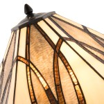 5913 Table Lamp Brown Glass Lampshade Lights Co Uk