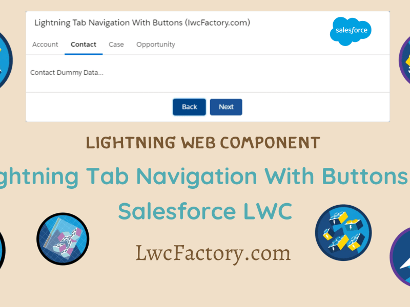 lightning tab with button navigation