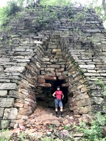 Riding gravel on a rainy day in Georgia, found an old iron furnace