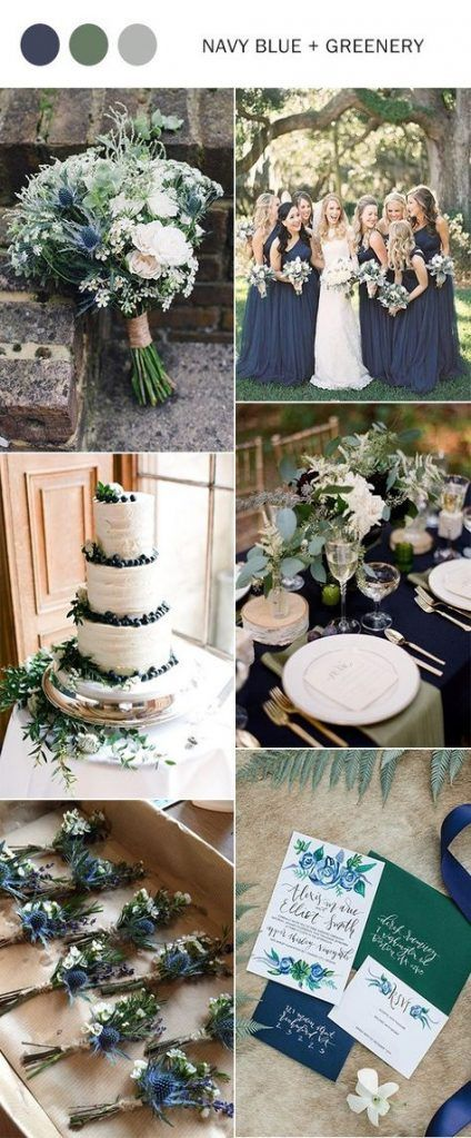 Navy + Green Colour Palette
