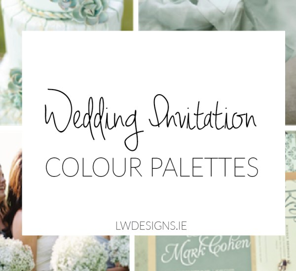 Wedding Invitation Colour Palettes