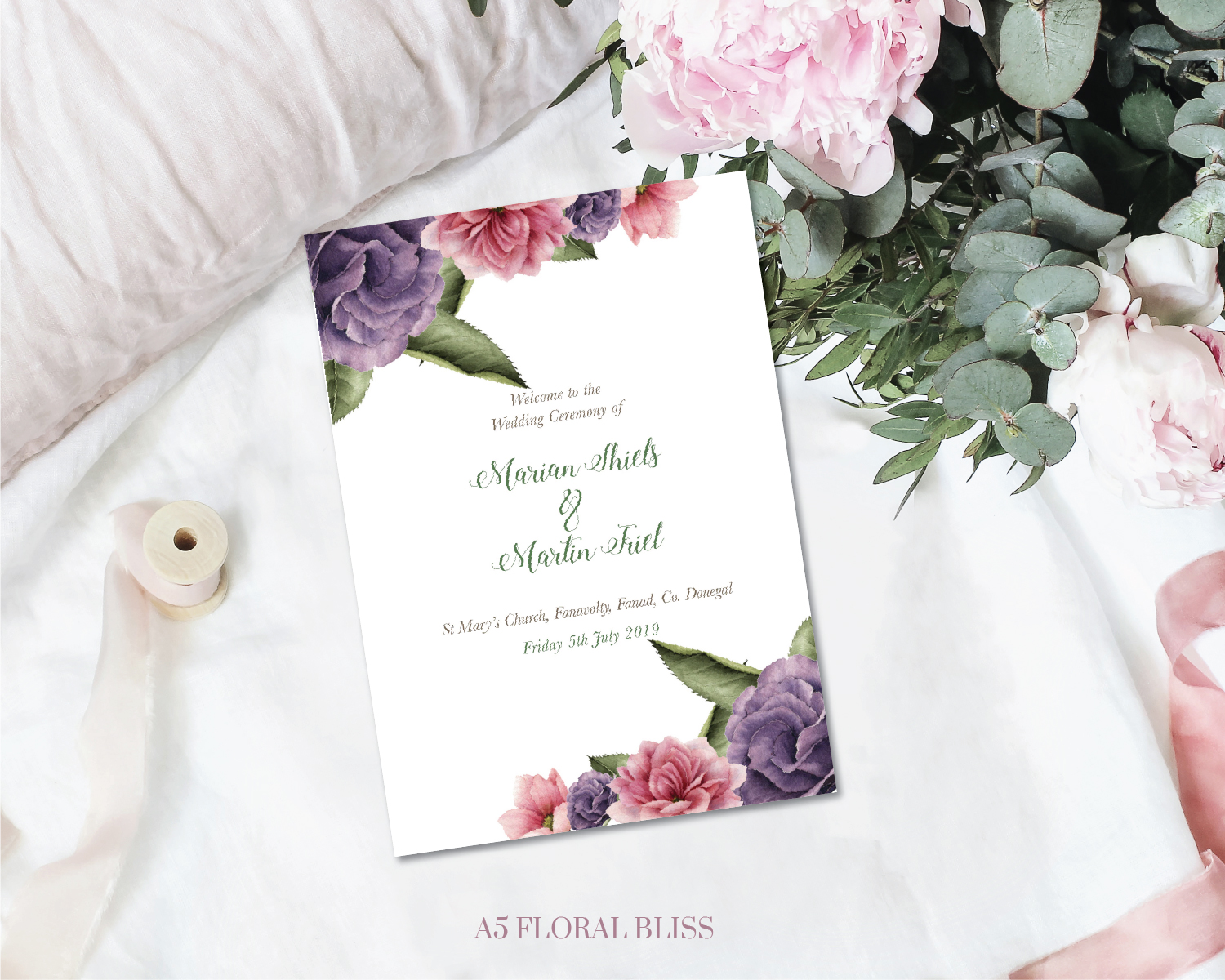 Half Mass Booklet Floral Bliss