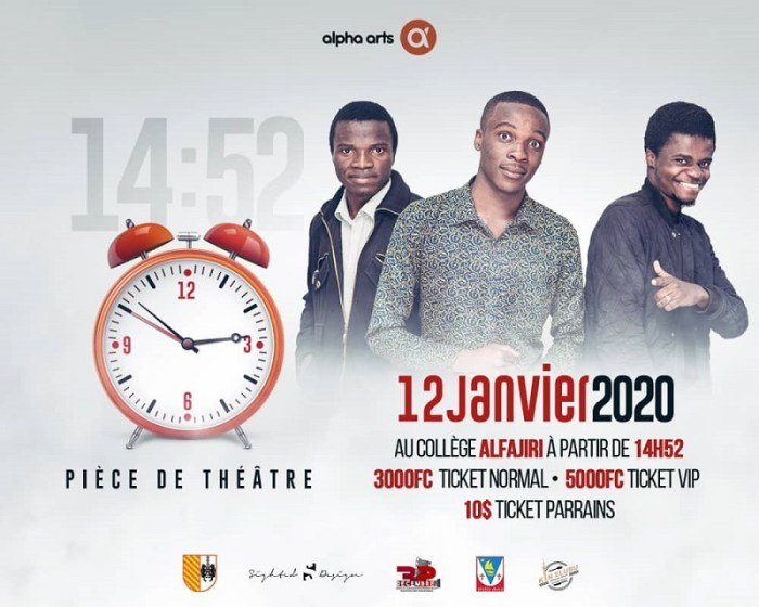 FOND RDC: Alpha Arts Présente: ''L'heure du spectacle de l'heure''