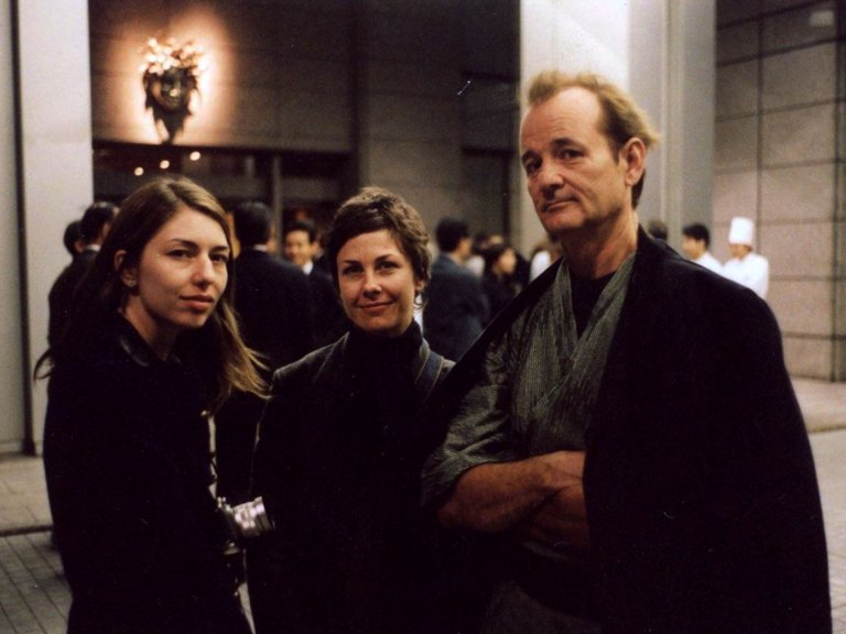 Sofia Coppola and Bill Murray on the set of Lost in Translation (2003)
