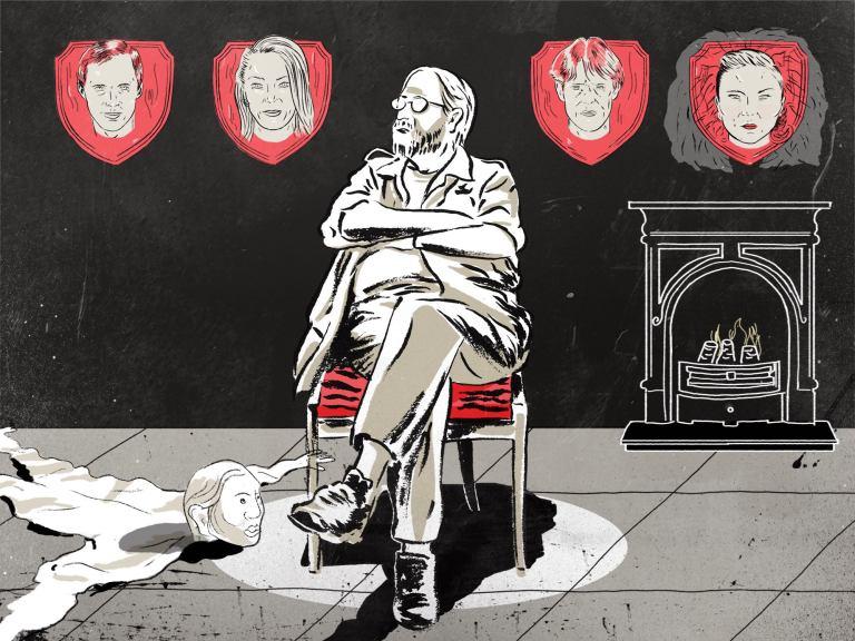 Lars von Trier illustrated portrait by Jason Ngai