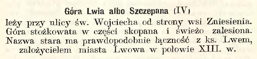 Przewodnik po Lwowie, Franciszek Barański, 1902 r.