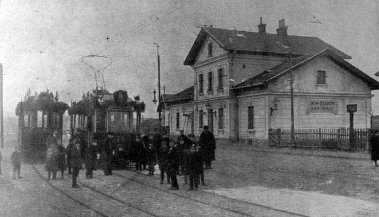Budynek dworca Łyczakowskiego, do którego jeździły tramwaje linii nr 8