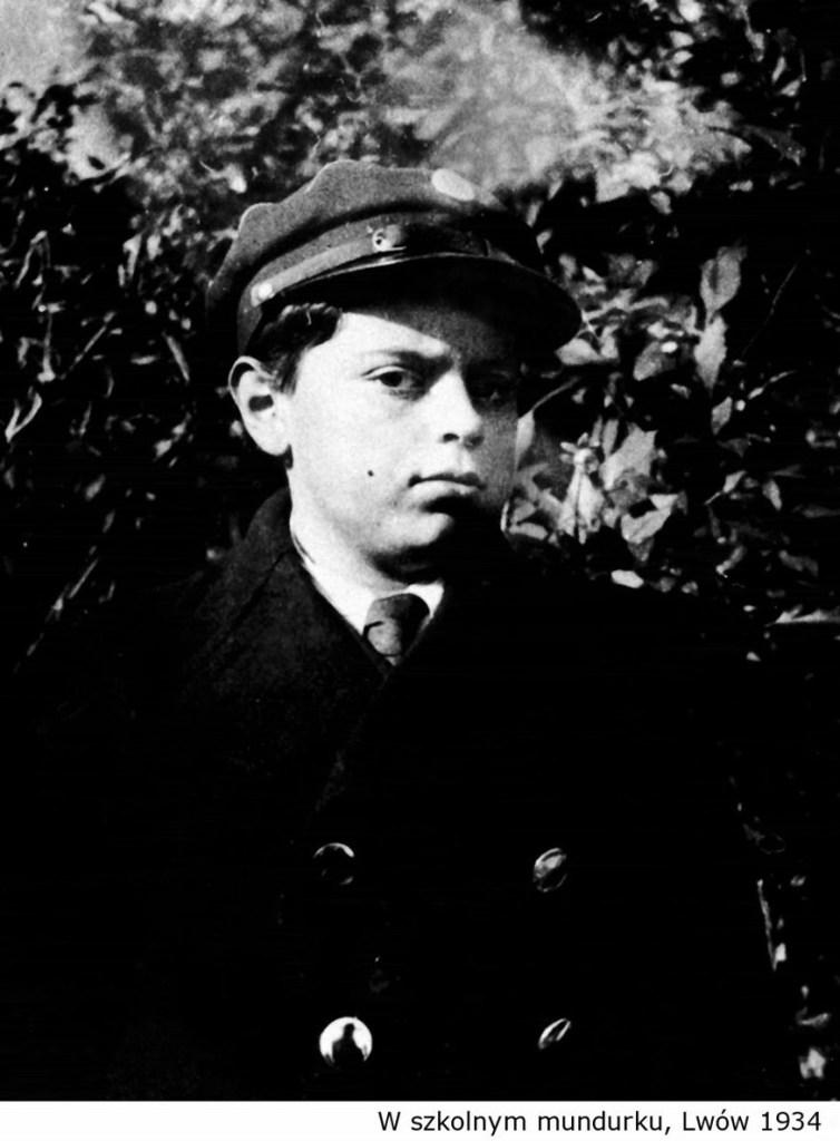 Lem w szkolnym mundurku Lwów 1934
