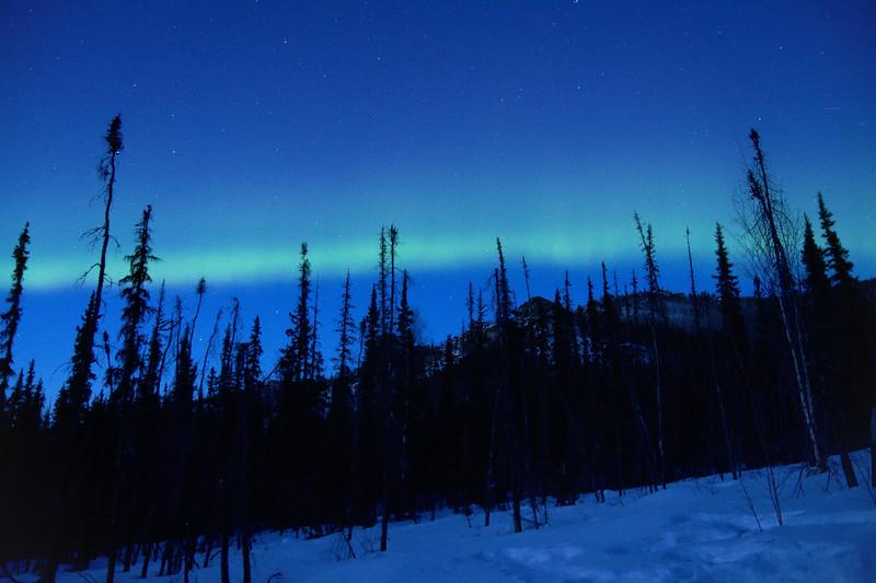 Aurora over Angel Rocks