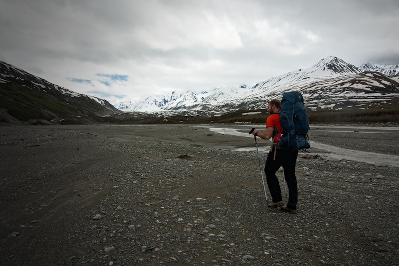 Backpacking up Miller Creek in the Alaska Range