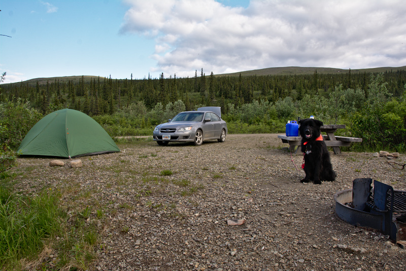 Campsite in the Mt. Prindle Campground