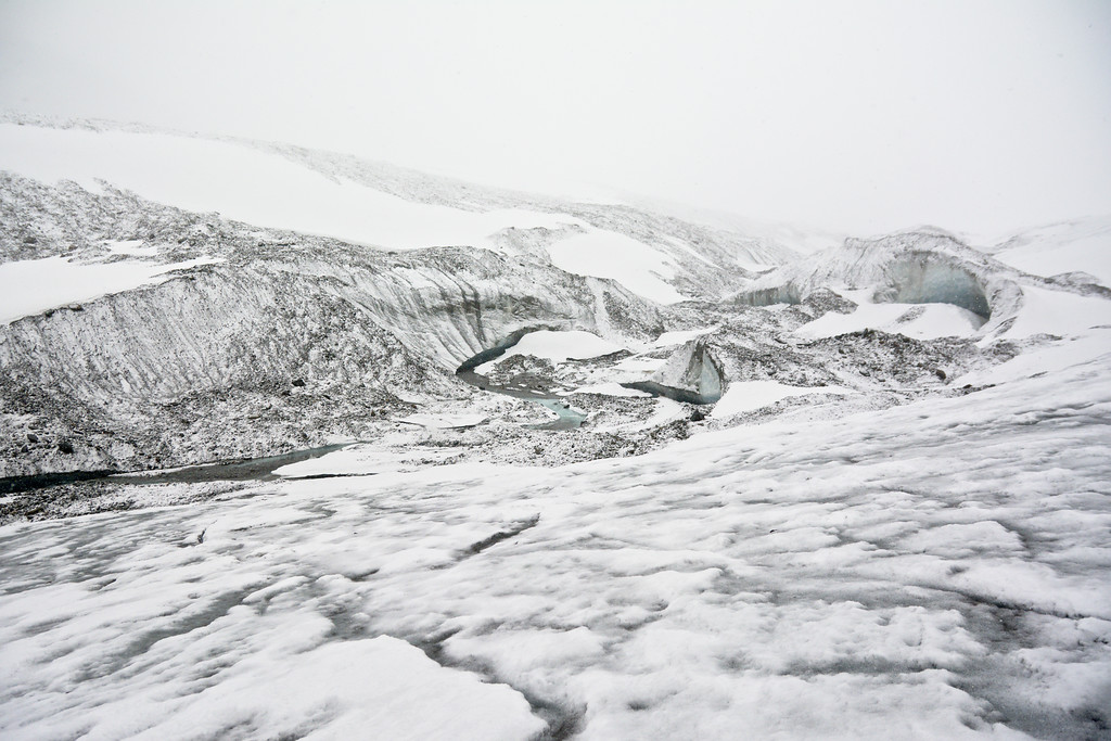 Fresh dusting on the Canwell Glacier