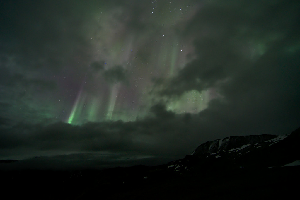 Northern lights from the Rainbow Basin