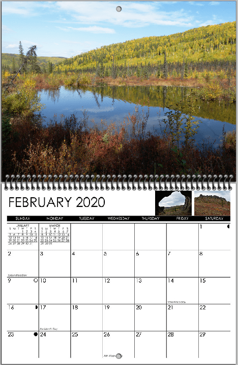 february display image from 2020 wall calendar