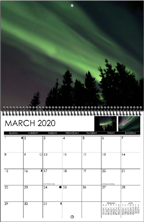 March display image from 2020 wall calendar by Lee Petersen